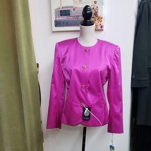 NWT Oscar De La Renta Button Blazer Jacket
